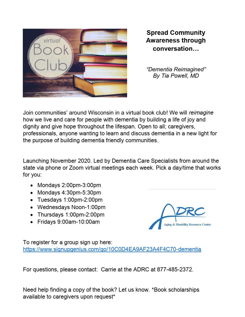 Dementia Reimagined Book Club