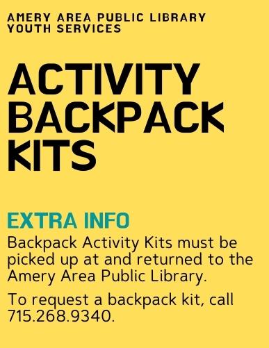 Activity Backpack Kit Info